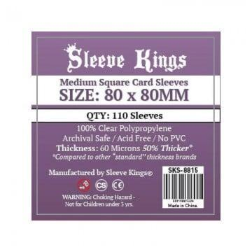 Fundas Sleeve King MEDIUM SQUARE CARD (80x80mm) Premium (110)